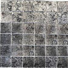 Mosaico piastrella vetro nero/grigio muro cucina bagno: 126-CM4BL22_b | 1 foglio