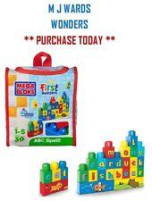 Mega Blok 8491 - First Builders - Travel Bag - ABC Spell ** GREAT GIFT **