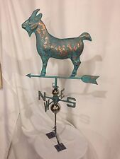 LARGE Handcrafted 3 Dimensional GOAT Weathervane Copper Patina Finish