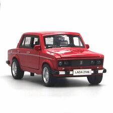1/32 VAZ Lada 2106 Model Car Metal Diecast Kids Gift Toy Vehicle Sound Light Red