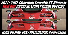 Red Out Reverse Light Overlay for 2014 - 2019  Chevrolet Corvette C7 Stingray