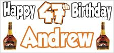 Brandy 47th Birthday Banner x2 Party Decoration Adult Ladies Mens ANY NAME