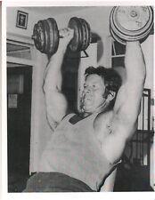bodybuilder REG PARK Mr Universe Dumbbell Presses Bodybuilding Muscle Photo B&W