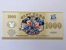 Tokyo Disney Resort  Sea 15th Limited Gift Card 1000 YEN TDL TDS free shipping