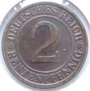 2 Rentenpfennig 1923 J in Vorzüglich !!!