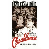 "CASABLANCA MOVIE POSTER - HUMPHREY BOGART INGRID BERGMAN - 91 x 61 cm 36"" x 24"""