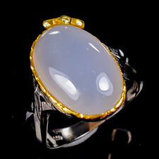 Chalcedony Ring Silver 925 Sterling Handmade12ct+ Size 8.75 /R128261