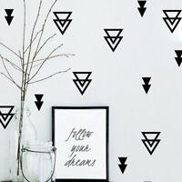 Set of 48 Pcs Triangles Wall Sticker Nursery Decor Kids Decal Art Mural Gift DIY
