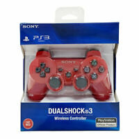 Red Official PS3 PlayStation 3 DualShock 3 Wireless SixAxis Controller GamePad