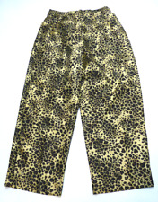 Womens Size 14 Animal Print Elastic Back Waist Capri Pants New No Tags