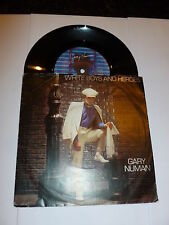 "GARY NUMAN - White Boys And Heroes - 1982 UK Beggars Banquet vinyl 7"" single"