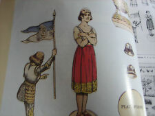 4pg France Joan of Arc Paper Doll Magazine Article / Ann Bahar