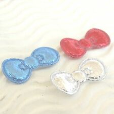 """150 pc x 7/8"""" Patriotic Padded Shiny Felt Bow Appliques for Hello Kitty ST627US"""