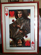 Collectible Rare Giant Framed Poster Of The Queen Of Hearts 31x42 (framed)