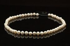"6x7mm Genuine Freshwater Cultured White Pearl Necklace 18"" Wedding Bridal Gift"
