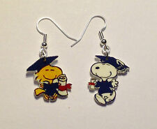 Snoopy Woodstock Graduation Earrings Mix Match Set Cap Gown Charms
