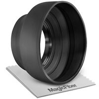 77MM Collapsible Rubber Lens Hood for Canon EOS 5D Mark III 7D Mark II 6D 5DS R