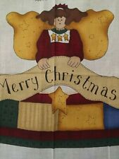 Christmas Tree Skirt - Printed Fabric Panel - 1 yard - by Leslie Beck