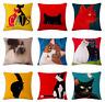 FUNNY CAT Cushion Covers! Cartoon Art Portrait Kitten Painting 45cm Gift UK