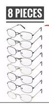Lot of 8  READING GLASSES Reader Unisex Men Women Style Bulk Lot.