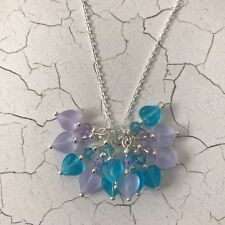 Swarovski Silver Plated Element Heart Beaded Cluster Pendant Necklace