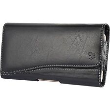 HTC Desire 510 512 ~ Horizontal Leather Pouch Case Holster Belt Clip - Black New