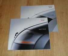 AUDI TT COUPE OPUSCOLO 1998 1.8T 180 & 225 Quattro-non SPOILER Edition-UK