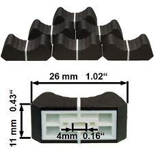 NUEVO 6 prof. Botón de Fader Negro 4mm control deslizante Potenciómetro Poti