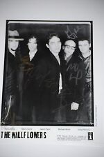 Original Wall Flowers Group signed photo By all 5- Jakob Dylan , Ward , Jaffee