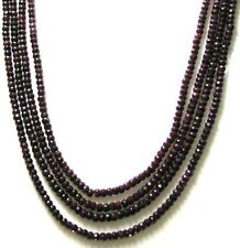 425Ct Natural Red Ruby faceted Beads 4 line strand Necklace Mothers day