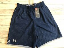 NWT Under Armour Heat Gear Navy Blue Shorts Elastic Men Small S Loose Fit  N4