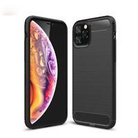 Apple iPhone Handy Hülle Silikon Cover Schutzhülle Soft Case Bumper Carbonfarben