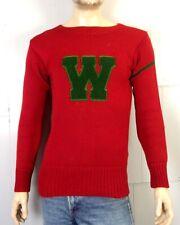 vtg 30s 1933-1935 NRA Tag Letterman Varsity Sweater Crew Washington University