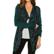 2015 NWT WOMENS ELEMENT EXPLORE CARDIGAN $65 M teal smooth sweater knit