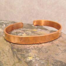 Tibetan Nepal Thin Copper Plain Unisex Adjustable Cuff Bracelet