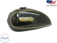 Fit For NORTON 750 850 INTERSTATE COMMANDO BLACK PAINTED GAS FUEL PETROL TANK