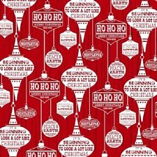 HOLIDAY TRADITIONS RED CHRISTMAS DECORATIONS ORNAMENTS FABRIC