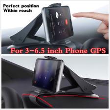 """Black HUD Design Car Dashboard Phone Holder Stand Cradle For 3-6.5"""" GPS Phones"""