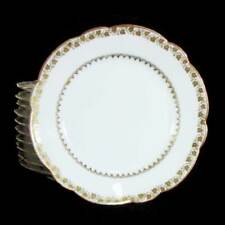 "1892-1907 Tressemane & Vogt Limoges 11 Dessert Bread Plates, 6-3/8"" White Gold"
