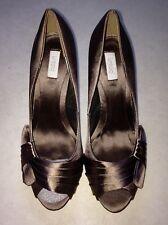 Untold House of Fraser women's peep toe satin heels, size 8/41, brand new in box