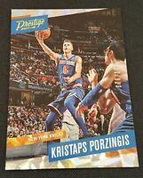 2017-18 Panini Prestige Kristaps Porzingis Cracked Ice Foil 76/199 Knicks Mavs
