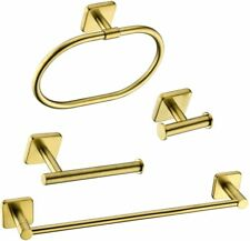 4-Piece Complete Bathroom Accessory Set, Brushed Gold - Open Cox