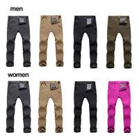 Men Women Windproof Trousers Winter Warm Outdoor Hiking Ski Pants Fleece Padded