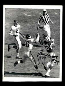 Lenny Moore JSA Coa Signed 8x10 Original Wire Photo Autograph