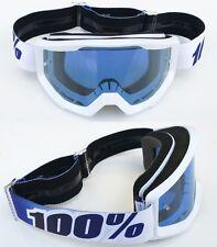 100% Por Cien ESTRATOS MOTOCROSS MX Gafas De Motocicletas Equinox BLANCO CON
