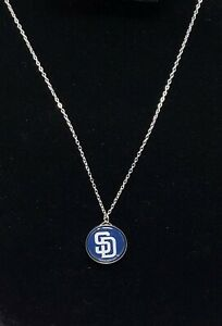 San Diego Padres Charm Necklace MLB Baseball