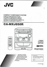 JVC Bedienungsanleitung user manual  für CA- MXJ 850R