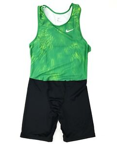 Nike Track and Field Digital Race Day Men's Large Unitard Green 835898