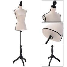 Female Mannequin Torso Dress Form Clothing Display Stand Beige