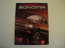 1992 GMC Sonoma Pickup Sales Brochure
